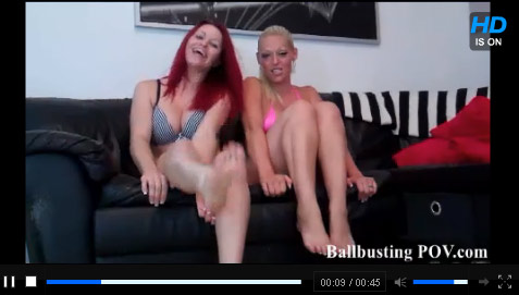 Click To Play Ballbusting POV Trailer